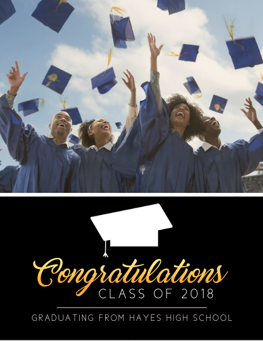 Graduation Congratulating Flyer Template Pamflet (Letter AS)
