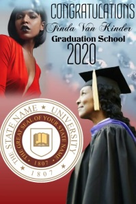 Graduation Congratulations Poster template