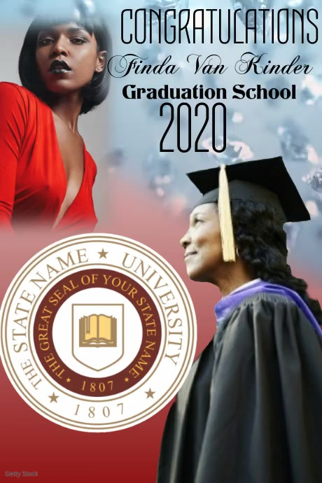 Graduation Congratulations Affiche template