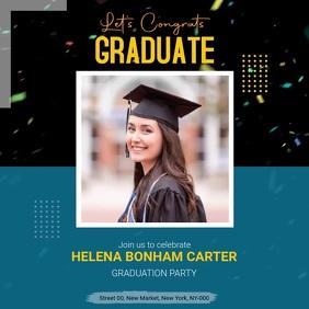 Graduation Congratulations Post Publicação no Instagram template