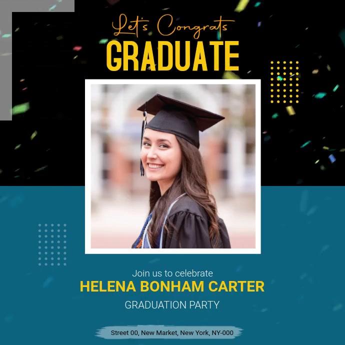 Graduation Congratulations Post template
