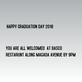 Graduation day event Capa de álbum template