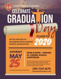 Graduation Day Flyer Løbeseddel (US Letter) template