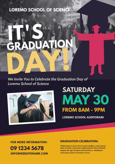 Graduation Day Flyer A4 template