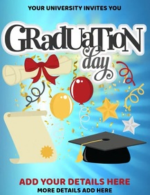 Graduation Day Flyer Template Рекламная листовка (US Letter)