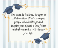 Graduation Day Quote Großes Rechteck template