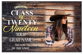 Graduation Étiquette template