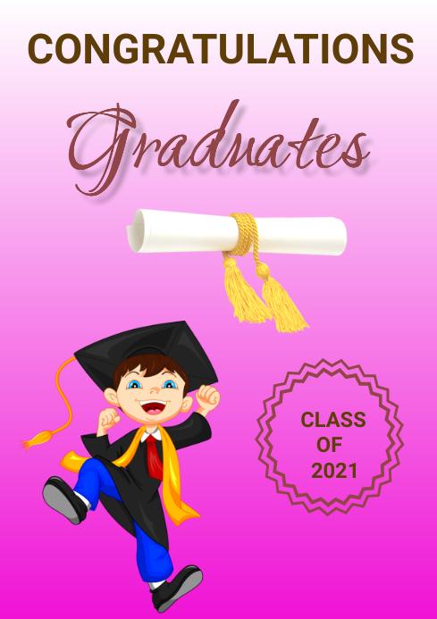 Graduation A3 template