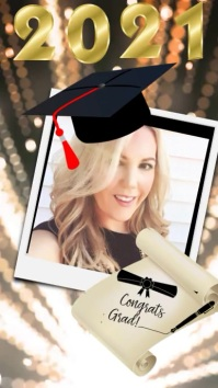 Graduation Digital Display (9:16) template