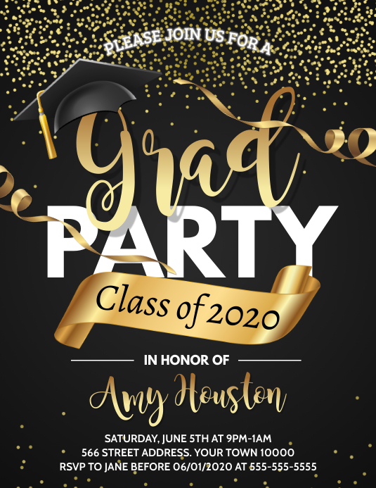 Graduation Flyer (format US Letter) template