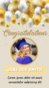 Graduation Pantalla Digital (9:16) template