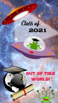Graduation Digital Display (9:16) template