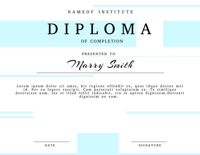 Abschluss Diplom Zertifikat Vorlage-Vorlage | PosterMyWall