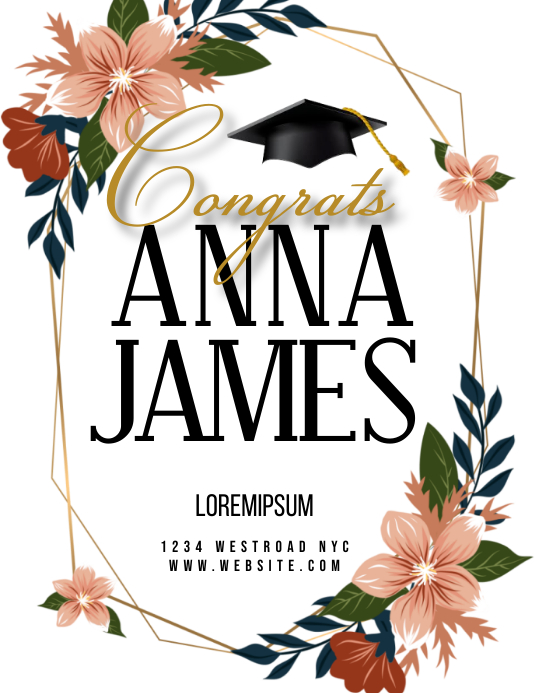graduation event FLYER TEMPLATE Løbeseddel (US Letter)