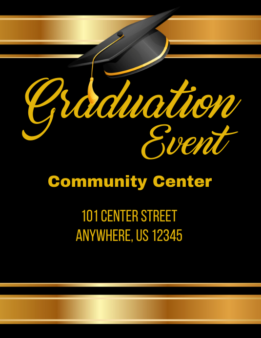 Graduation Event Flyer Template  Postermywall
