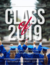 Graduation Flyer, Class of 2019, Graduation Party, Congrats