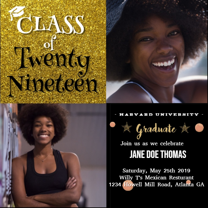 Graduation Flyer Iphosti le-Instagram template