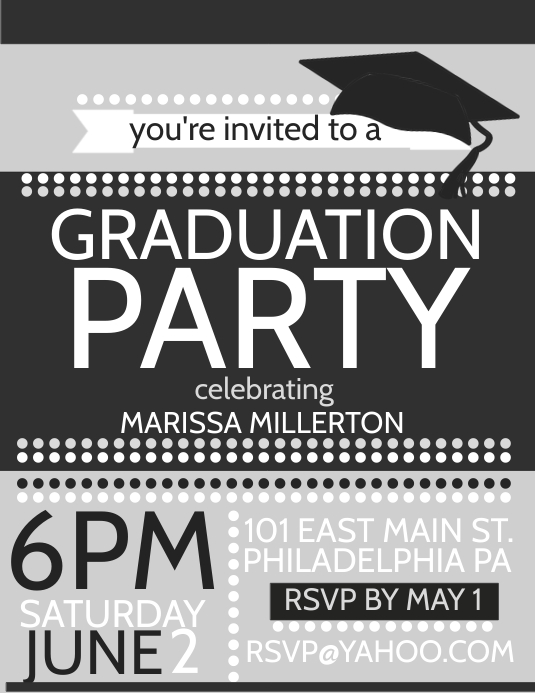 Graduation Template Postermywall