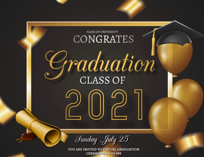 Graduation flyers,Virtual graduation Carré (1:1) template