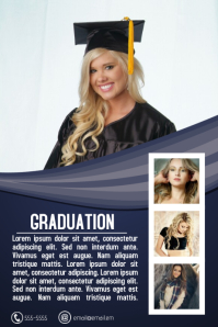 graduation graduate class party flyer template