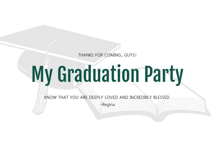 Graduation Greeting Card Template