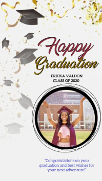 graduation instagram story design template