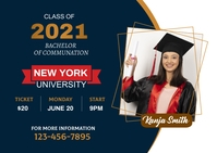 Graduation Invitation Ads Postcard template