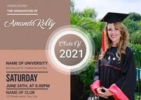 Graduation Invitation Postal template