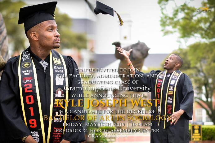 Graduation Invitation Ishidi elingu 4' × 6' template