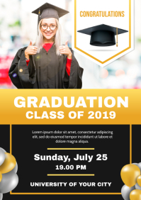 Graduation Invitation Flyer Template