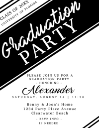 Graduation Invitation for Male Flyer (US Letter) template