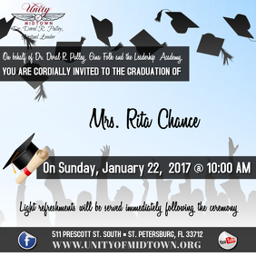 GRADUATION INVITE Album Cover template