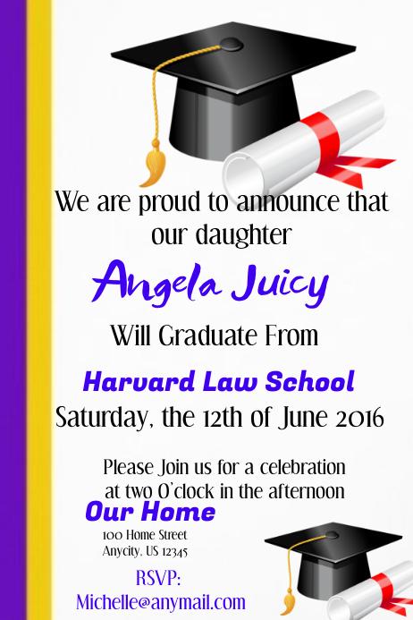 graduation invite customize template