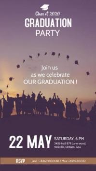 graduation invite story template