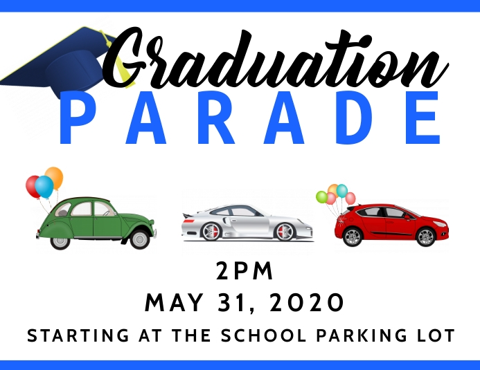 Graduation parade 2020 Pamflet (Letter AS) template