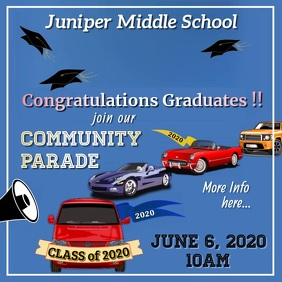 Graduation Parade Video Square (1:1) template
