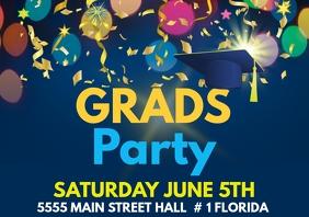 Graduation Party A 4 Size Template A4