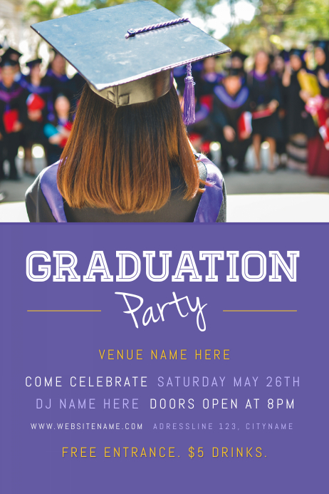 Graduation PArty Cartaz template
