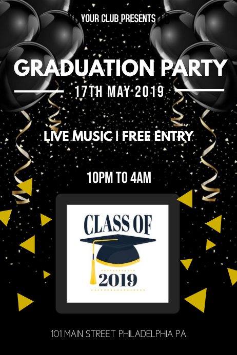 Graduation Party Iphosta template