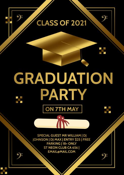 Graduation Party A4 template