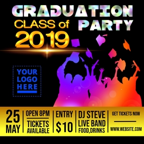Graduation Party Design template Message Instagram