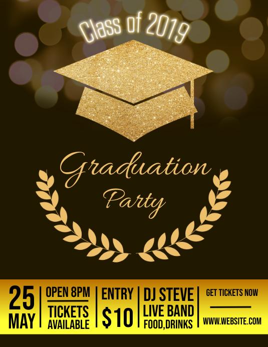 Graduation Party Design template Iflaya (Incwadi ye-US)