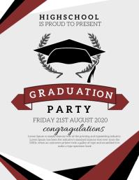 Graduation Party Folheto (US Letter) template