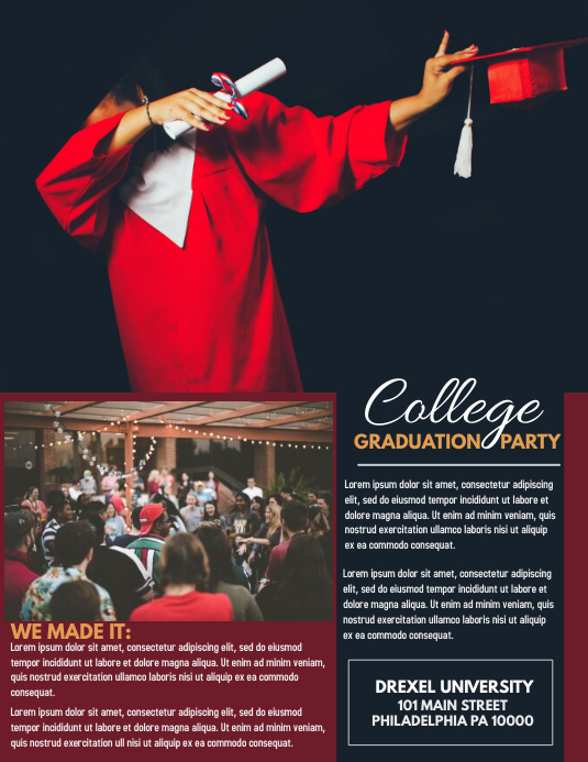 GRADUATION PARTY Iflaya (Incwadi ye-US) template