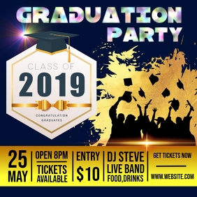 Graduation Party Design template Сообщение Instagram