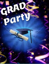 graduation party Volante (Carta US) template