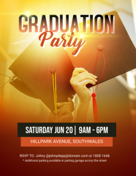 4180 Customizable Design Templates For Graduation Party Flyers