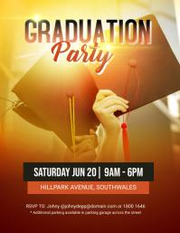Graduation Party Event Flyer Template