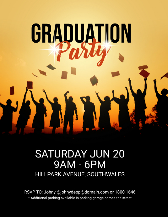 Graduation Party Event Flyer Template