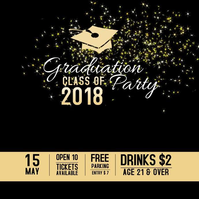 Graduation Party Event Video Template